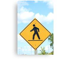 Pedestrian Crosswalk Sign Canvas Print