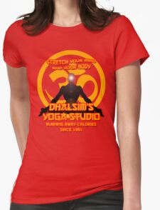 Street Fighter - Dhalsim's Yoga Studio Womens Fitted T-Shirt