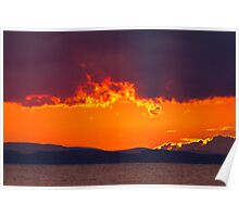 A Solway Sunset  Poster