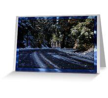 """ Blue Christmas "" Greeting Card"
