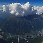 Chamonix from Mont Blanc by Paul Gilbert
