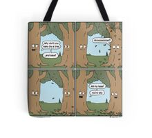 This comic is printed on 100% recycled virtual paper. Save the trees, hug a whale. Tote Bag