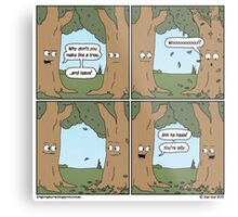 This comic is printed on 100% recycled virtual paper. Save the trees, hug a whale. Metal Print
