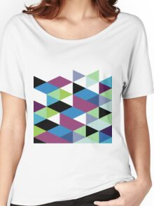 Abstract Modern Geometric Colorful Triangles Women's Relaxed Fit T-Shirt