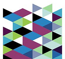 Abstract Modern Geometric Colorful Triangles Photographic Print