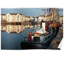 Whitehaven Harbour & Tall Ship Zebu Poster