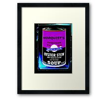 NORQUIST'S SOUP PURPLE - TAX THE DEAD! Framed Print