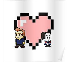 """Love in 8-bit"": Jeff and Annie (style A) Poster"
