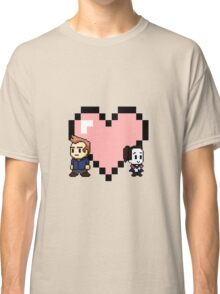 """""""Love in 8-bit"""": Jeff and Annie (style A) Classic T-Shirt"""