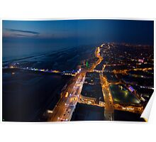 Blackpool Tower ~ Looking North at Dusk Poster