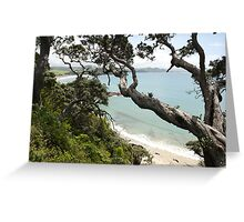 Whale bay,New Zealand Greeting Card
