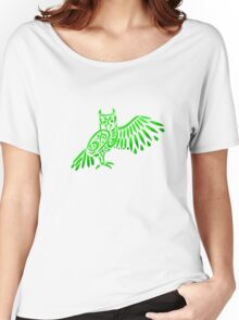 Owl Tribal Design Women's Relaxed Fit T-Shirt