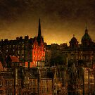 Edinburghs' Old Town at Dusk by Den McKervey