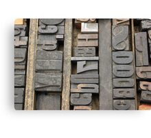 Letterpress, Brooklyn Flea Market Canvas Print