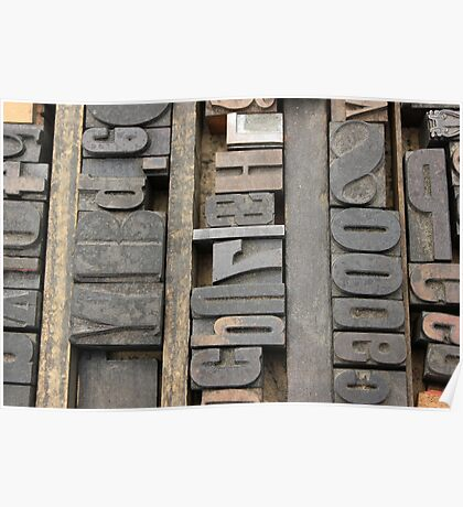 Letterpress, Brooklyn Flea Market Poster