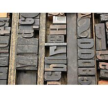 Letterpress, Brooklyn Flea Market Photographic Print