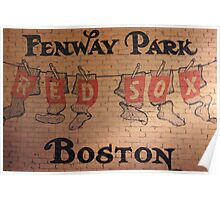 Wall detail, Fenway Park, Boston Poster