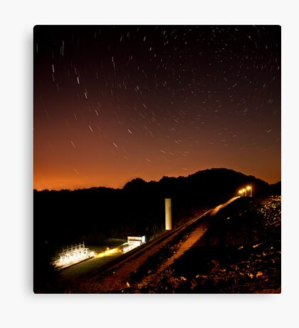 Star Trails over South Holston Dam Canvas Print
