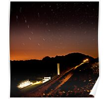 Star Trails over South Holston Dam Poster