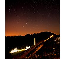 Star Trails over South Holston Dam Photographic Print