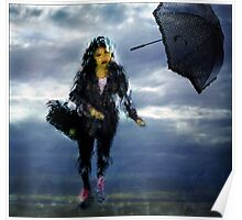 woman in the rain Poster