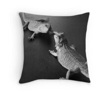 Beared Dragons Throw Pillow