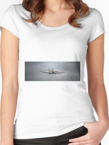 Supermarine Spitfire Mk5b EP120 Women's Fitted Scoop T-Shirt