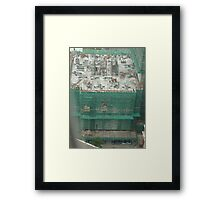 A busy beehive of activity Framed Print