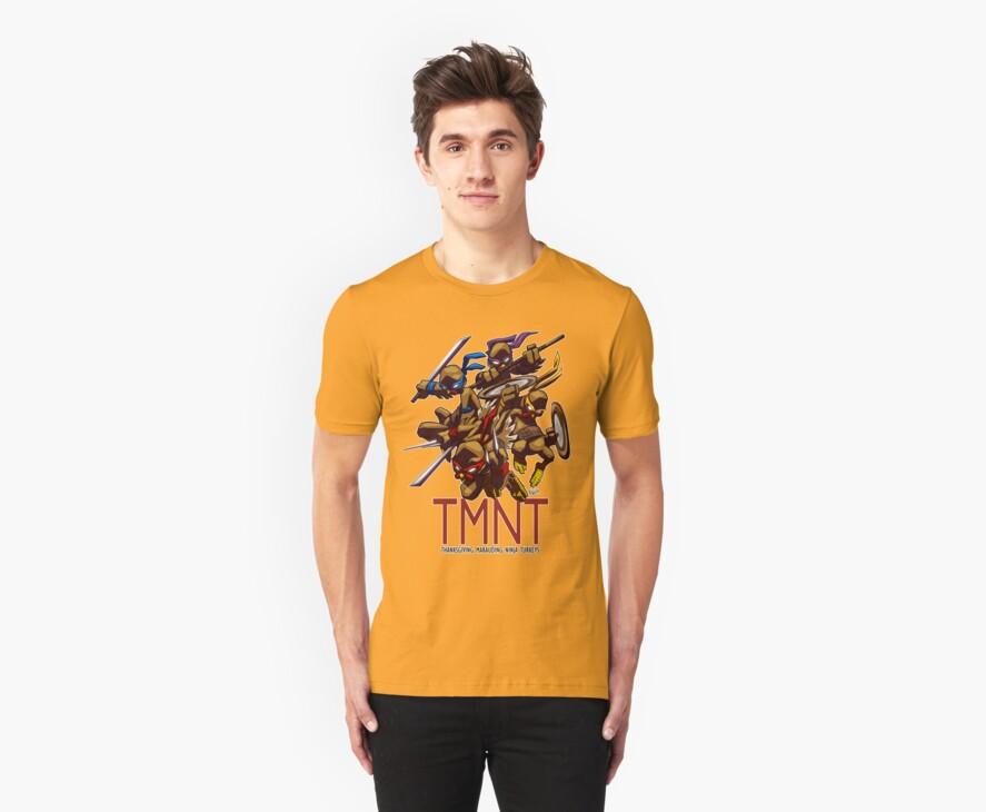TMNT Thanksgiving Tee by ewgraphics