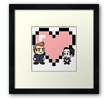 Community - Jeff and Annie 8-bit (style B) Framed Print