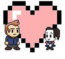 Community - Jeff and Annie 8-bit (style B) Photographic Print