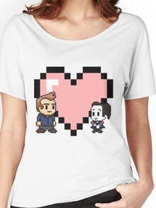 Community - Jeff and Annie 8-bit (style B) Women's Relaxed Fit T-Shirt