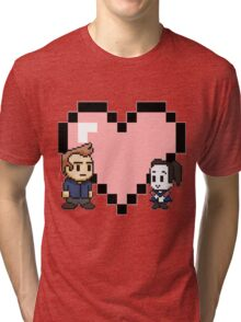 Community - Jeff and Annie 8-bit (style B) Tri-blend T-Shirt