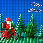 Cycling Santa by Addison