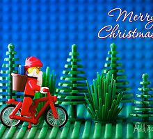 Cycling Santa by Addison