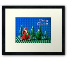 Cycling Santa Framed Print
