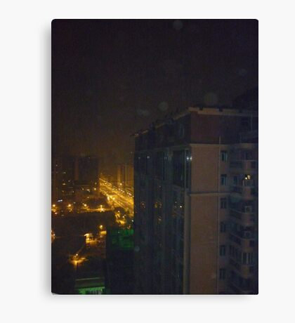 Eerie night lights Canvas Print