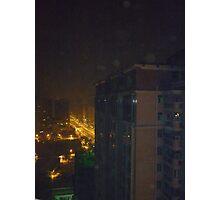 Eerie night lights Photographic Print