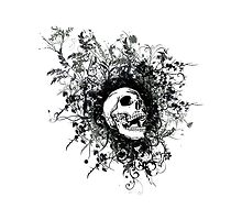 Skull Floral Explosion by 3cookec