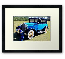 "1931 Model ""A"" Ford and Friend Framed Print"