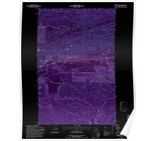 USGS Topo Map Washington State WA Snider Peak 243808 1995 24000 Inverted Poster