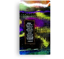 Now GOD Be Praised... Canvas Print