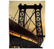 NYC - Williamsburg Bridge at sunset Poster