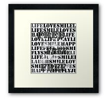Free Words Framed Print