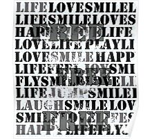 Free Words Poster