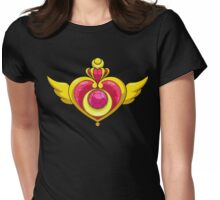 Sailor Moon Crysis Moon Compat Womens Fitted T-Shirt