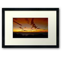 Amazing dawn  Framed Print