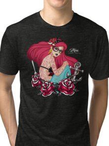 Hipster Mermaid Tri-blend T-Shirt