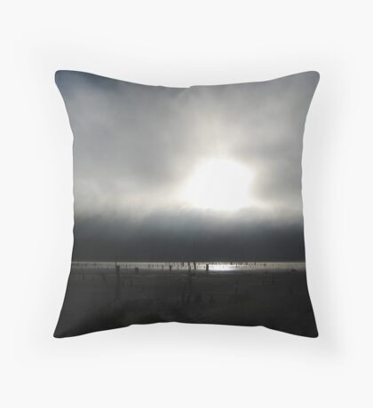 Edge of Darkness Throw Pillow