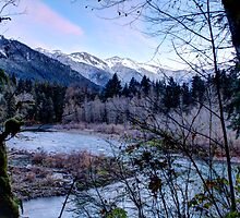 Frosty Mountain Valley by Dale Lockwood